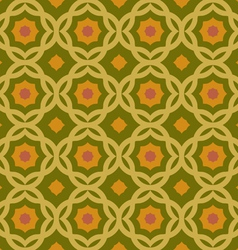 Old green geometric pattern vector