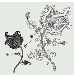 8floral line 21 2 vector