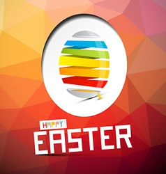 Happy easter with abstract colorful egg on t vector