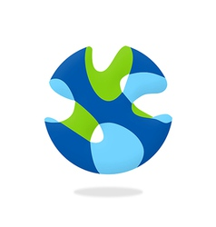 Abstract 3d globe unusual business logo vector