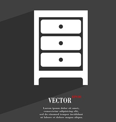Nightstand icon symbol flat modern web design with vector