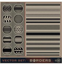 Boarder set vector