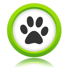 Paw of an animal icon vector