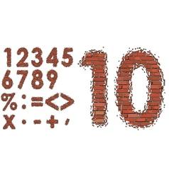 Numbers of bricks vector
