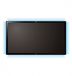 Lcd television glow vector