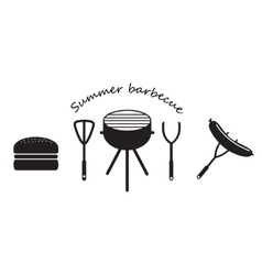 Set of icons bbq vector