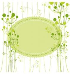 Springtime green dandelion vector