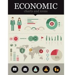 Economic infographic vector