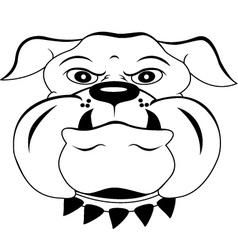 Head dog cartoon vector