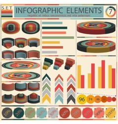 Detail infographic - retro style design vector