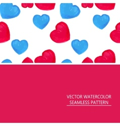 Seamless pattern of red and blue hearts vector