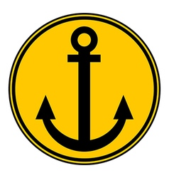 Anchor button vector