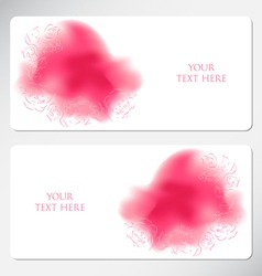 Romantic greeting cards vector