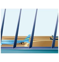 Airport departure lounge vector