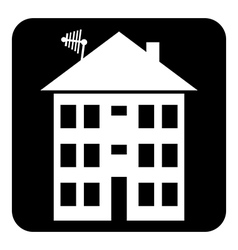 Apartment house button vector