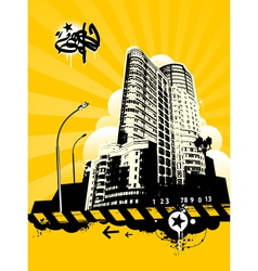 Grunge urban background vector