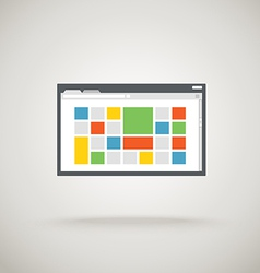 Browser window with color tile vector