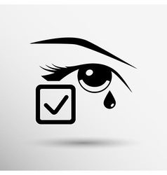 Eye with tears eye isolated sign symbol icon vector