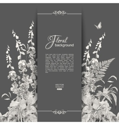 Floral romantic card vector