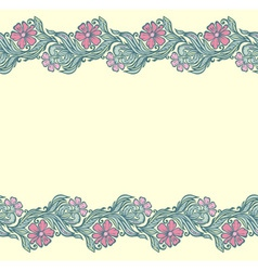 Seamless floral edging pattern vector