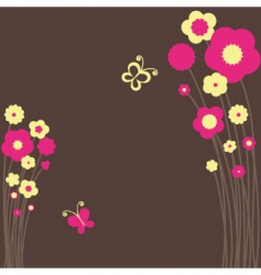Springtime floral butterfly vector