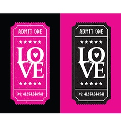 Pink and black tickets vector