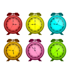 Multicolored watches vector