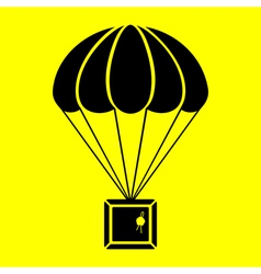 Parachute with the parcel vector