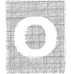 Freehand typography letter o vector