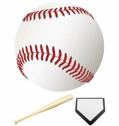 Major league baseball elements vector