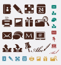 Post office icons vector