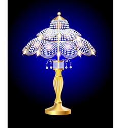 Beautiful table lamp vector