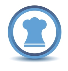 Blue chef hat icon vector