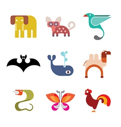 Animal icon set 9 vector