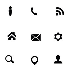 Universal 9 icons set vector
