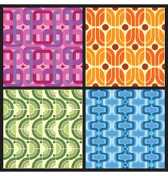 Four retro style colorful patterns vector