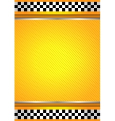 Racing background taxi vector