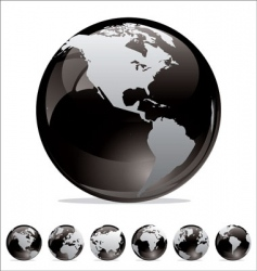 World map globe collection vector
