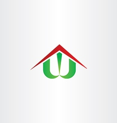 Letter w house home symbol vector