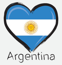 Love argentina flag vector