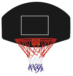 Black basketball basket vector