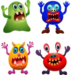 Funny monster collection vector