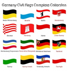 Germany civil flags vector