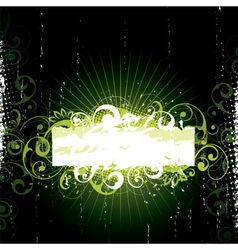 Green floral design vector