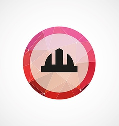 Construction helmet circle pink triangle vector