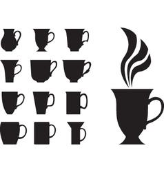 Big tea cups vector