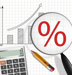 Schedule profit growth calculator pencil and vector