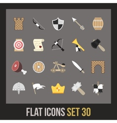Flat icons set 30 vector