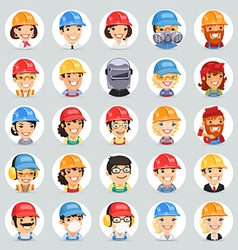 Builders icons set1 2 vector