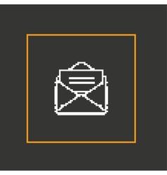 Simple stylish pixel icon envelope design vector